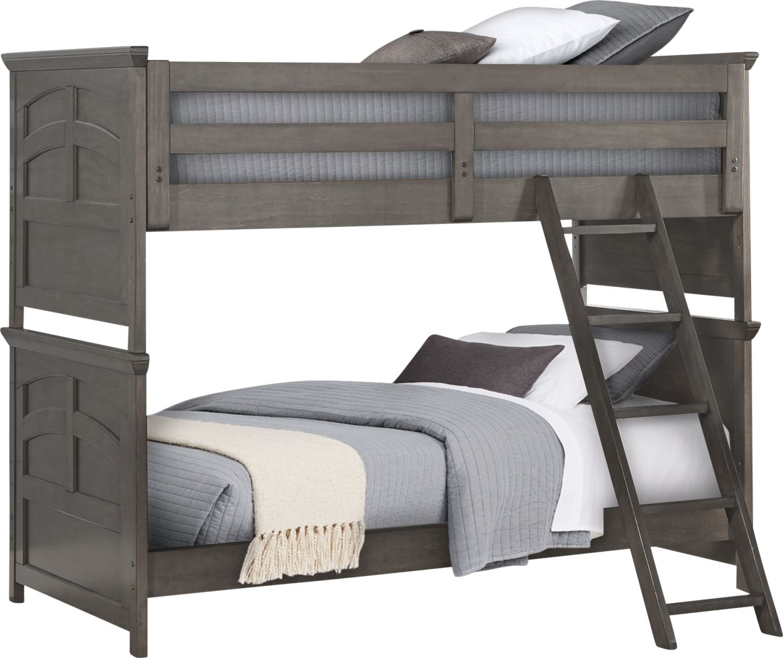 Santa Cruz Gray Twin/Twin Bunk Bed