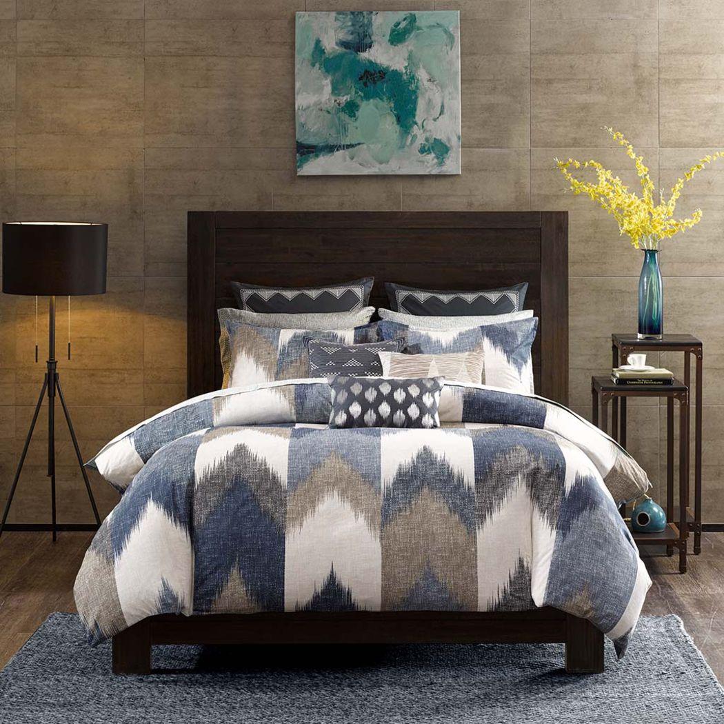 Santro Navy 3 Pc King/California King Comforter Set