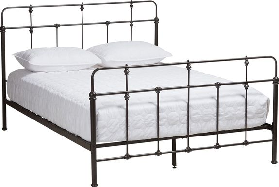 Sarpy Black Queen Bed
