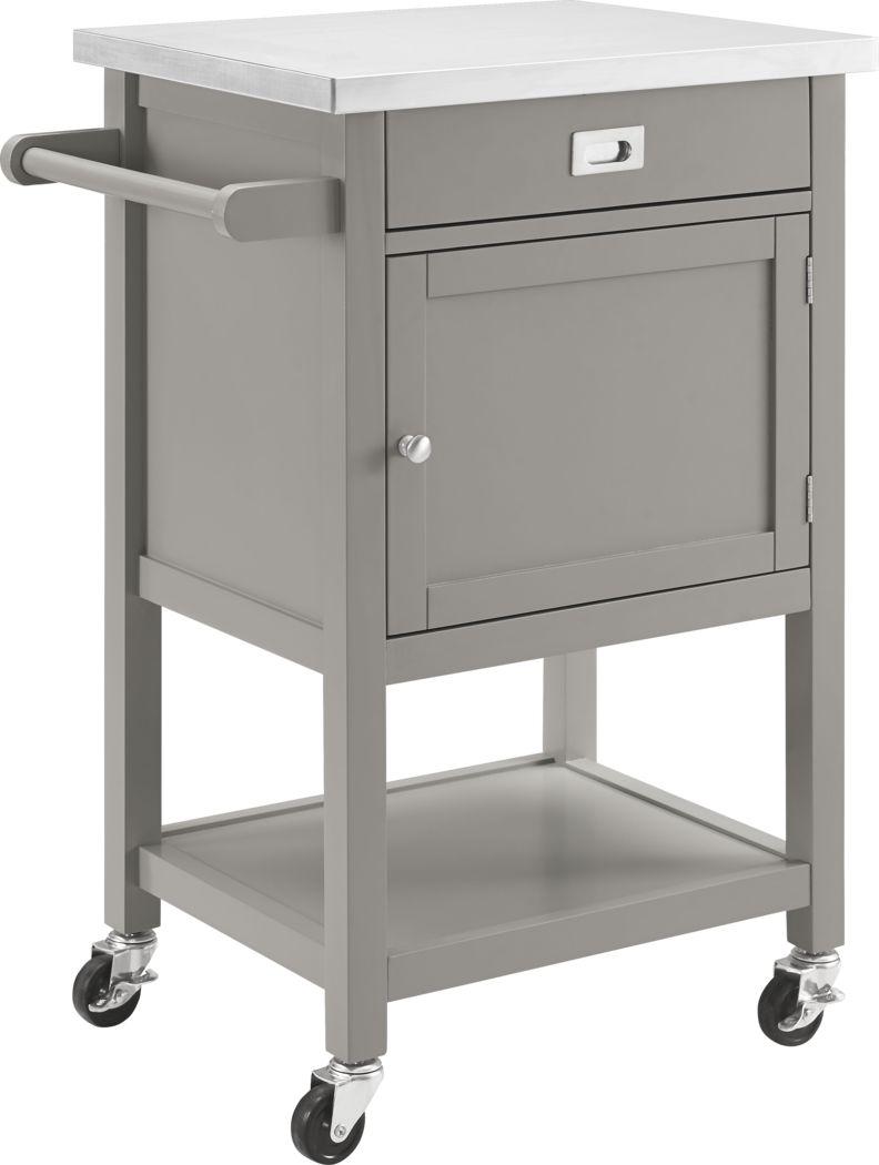 Sattler Small Gray Kitchen Cart