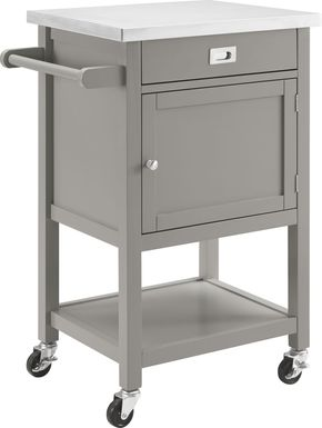 Sattler Small Gray Kitchen Cart