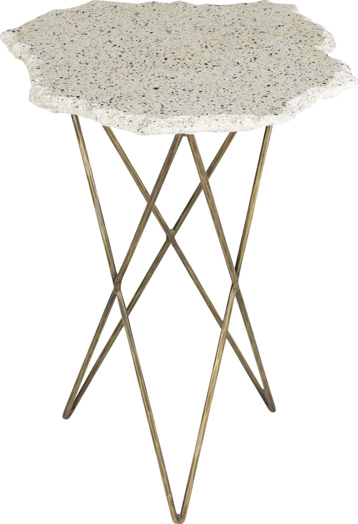 Satula White Side Table