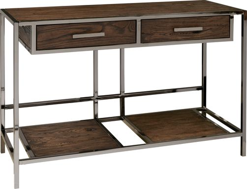 Saunderson Brown Console Table