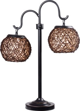 Sauratown Black Outdoor Table Lamp