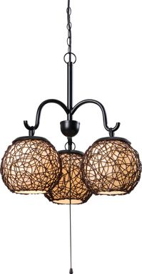 Sauratown Brown Outdoor Chandelier