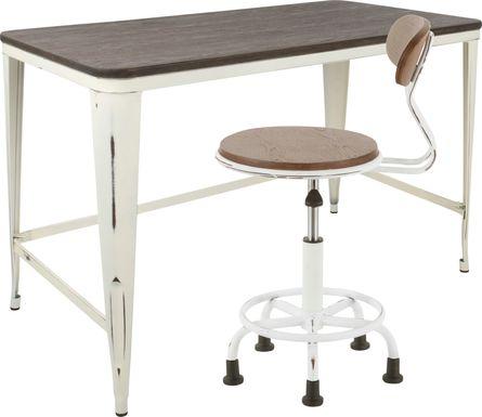 Sawmill White Desk and Chair