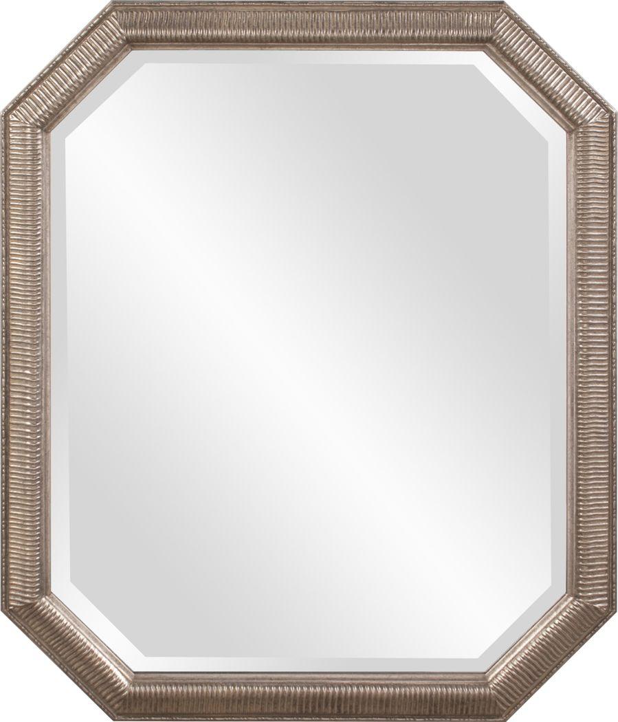 Sayna Silver Octagonal Mirror