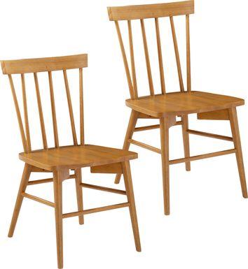 Sayreton Natural Dining Chair, Set of 2