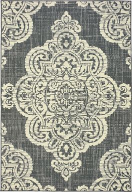 Scottlyn Granite 7'10 x 10'10 Indoor/Outdoor Rug