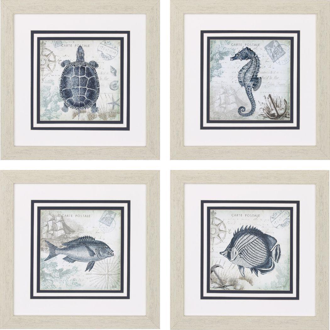 Sea Place Set of 4 Artwork