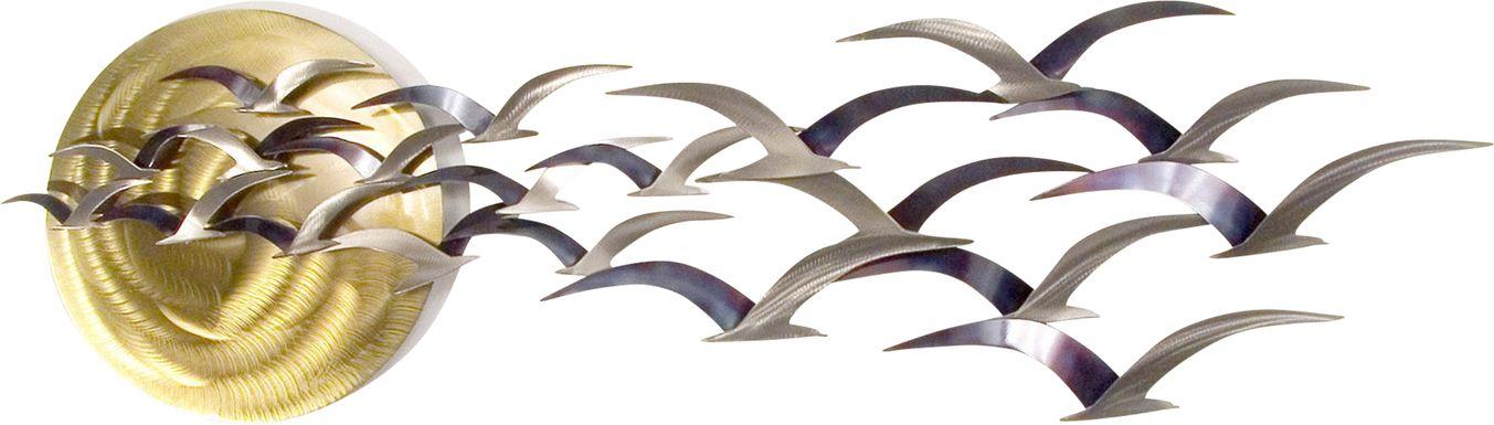 Seabirds at Sunset Brown Outdoor Artwork
