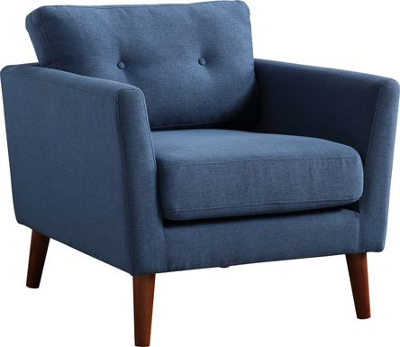Seabolt Blue Accent Chair