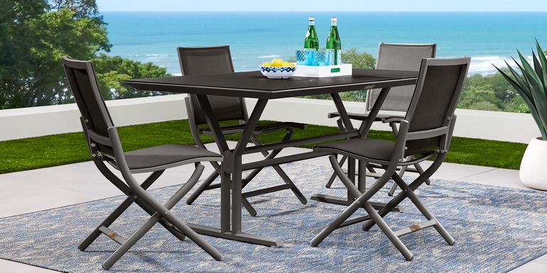 Seagate Pewter 5 Pc Rectangle Outdoor Dining Set