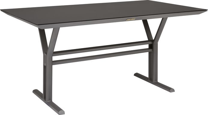 Seagate Pewter Outdoor Dining Table