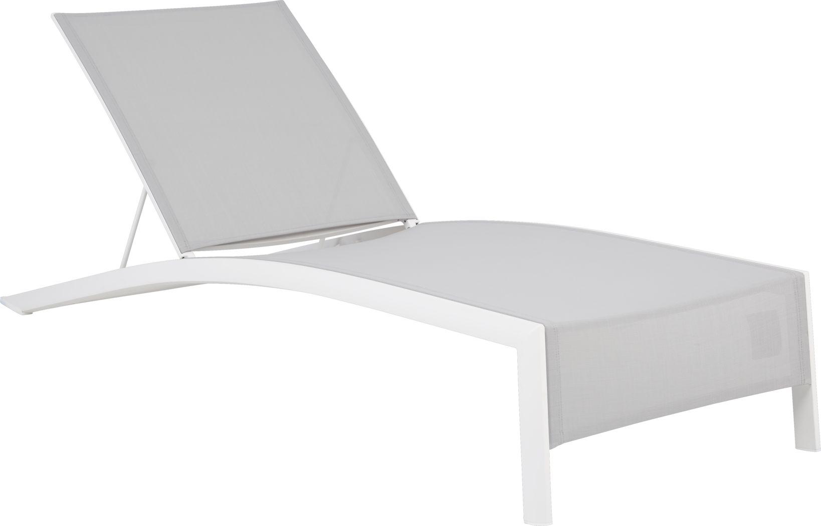 Seagate White Outdoor Chaise