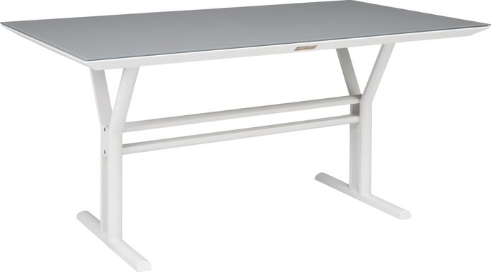Seagate White Outdoor Dining Table