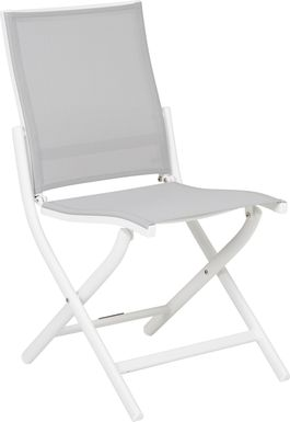 Seagate White Outdoor Side Chair