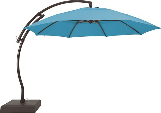 La Mesa Cove 13' Lagoon Outdoor Curve Cantilever Umbrella with Base and Stand