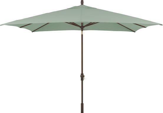 Seaport 8 x 10 Rectangle Green Outdoor Umbrella