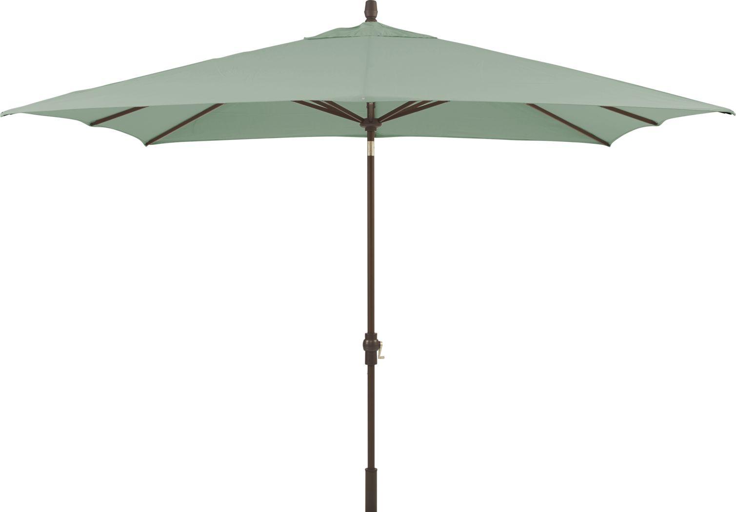 Seaport 8 x 10 Rectangle Seafoam Outdoor Umbrella