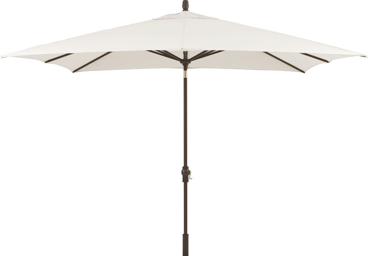 Seaport 8 x 10 Rectangle Ivory Outdoor Umbrella