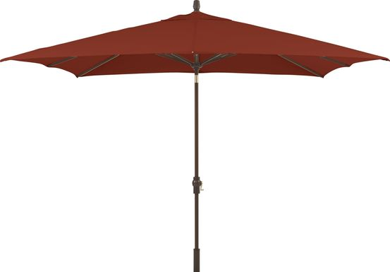 Seaport 8 x 10 Rectangle Maroon Outdoor Umbrella