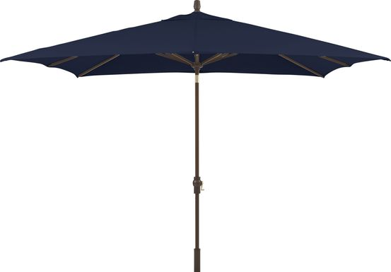 Seaport 8 x 10 Rectangle Navy Outdoor Umbrella
