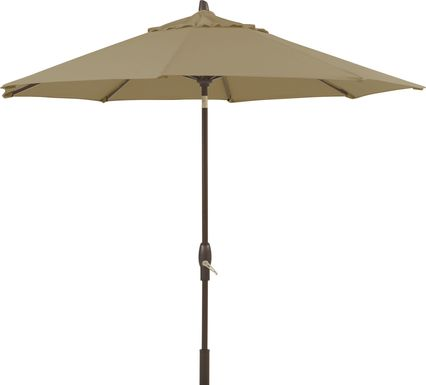 Seaport 9' Octagon Beige Outdoor Umbrella