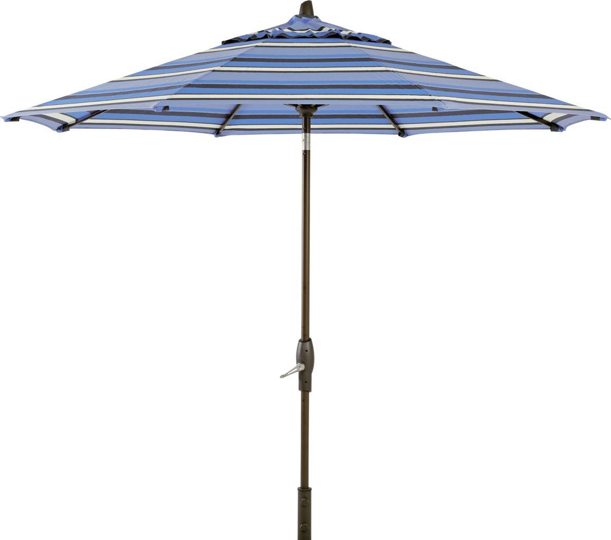Seaport 9' Octagon Blue Outdoor Umbrella