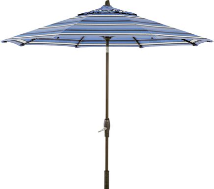 Seaport 9' Octagon Blue Outdoor Umbrella