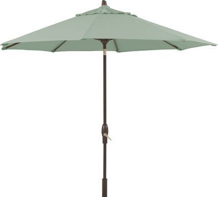 "Seaport 9"" Octagon Green Outdoor Umbrella"