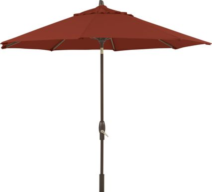 Seaport 9' Octagon Maroon Outdoor Umbrella