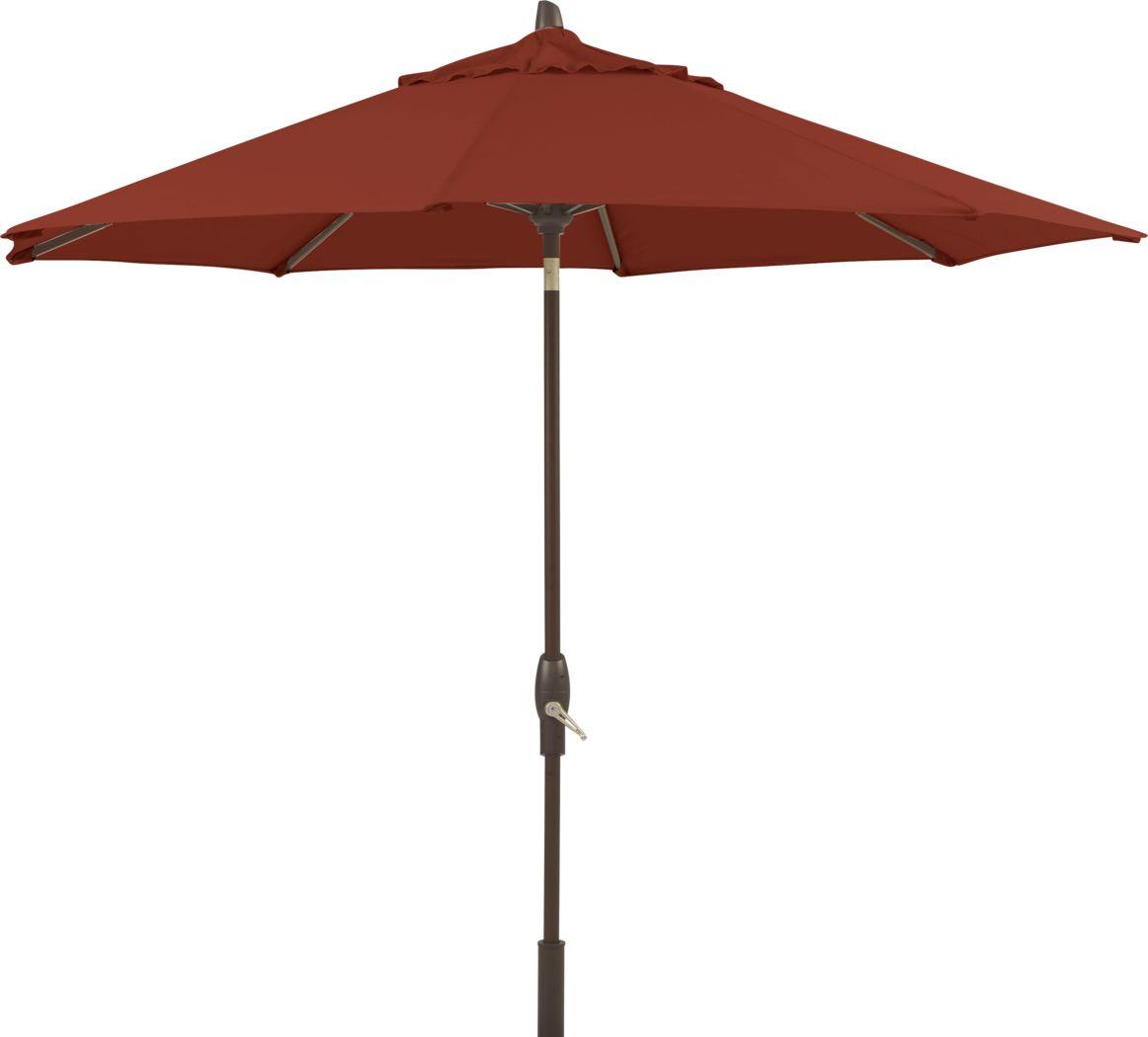 Seaport 9' Octagon Terracotta Outdoor Umbrella