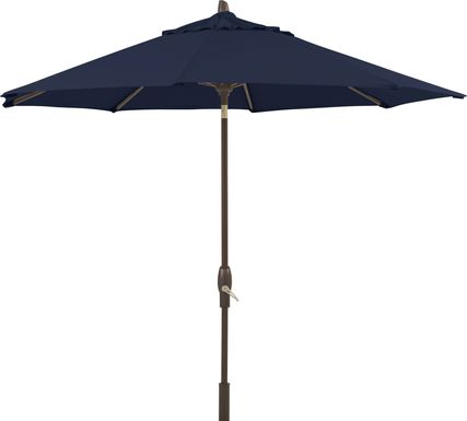 Seaport 9' Octagon Navy Outdoor Umbrella