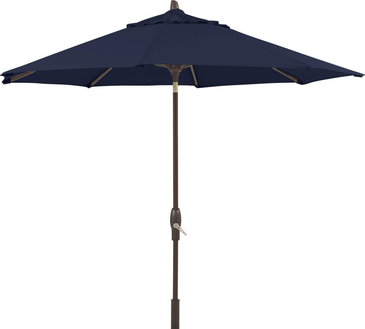 Seaport 9' Octagon Navy Outdoor Umbrella