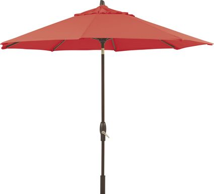 Seaport 9' Octagon Red Outdoor Umbrella