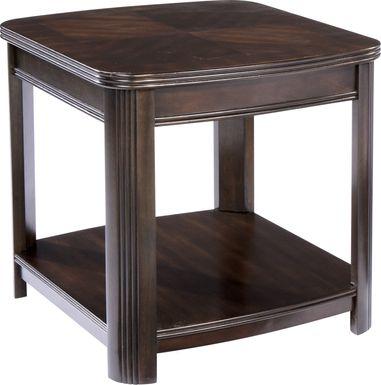 Sedalia Merlot Shelf End Table