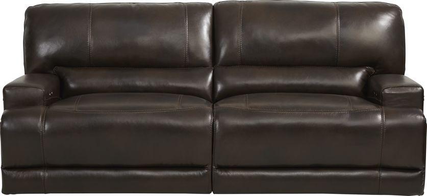Sefara Chocolate Leather Power Reclining Sofa