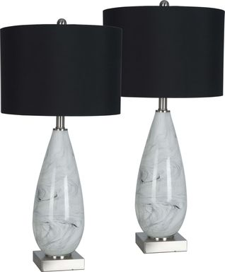 Selvawood White Lamp, Set of 2