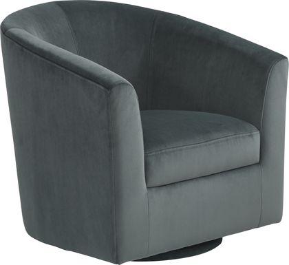 Sentosa Gray Accent Swivel Chair
