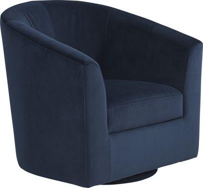 Sentosa Navy Accent Swivel Chair
