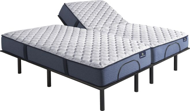Serta Perfect Sleeper Arina Split King Mattress with RTG Sleep 2000 Adjustable Base