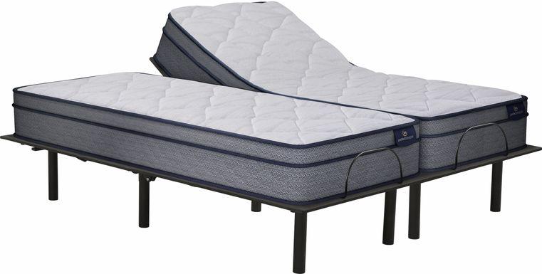 Serta Perfect Sleeper Camden Lake Split King Mattress with RTG Sleep 2000 Adjustable Base
