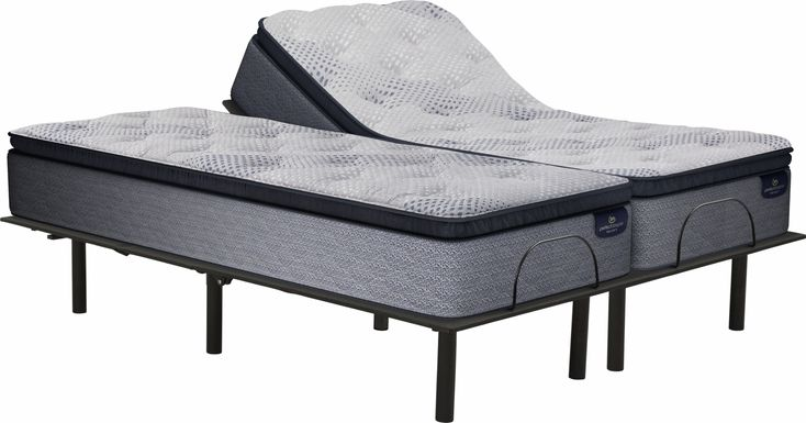 Serta Perfect Sleeper Gladwyn Split King Mattress with RTG Sleep 2000 Adjustable Base