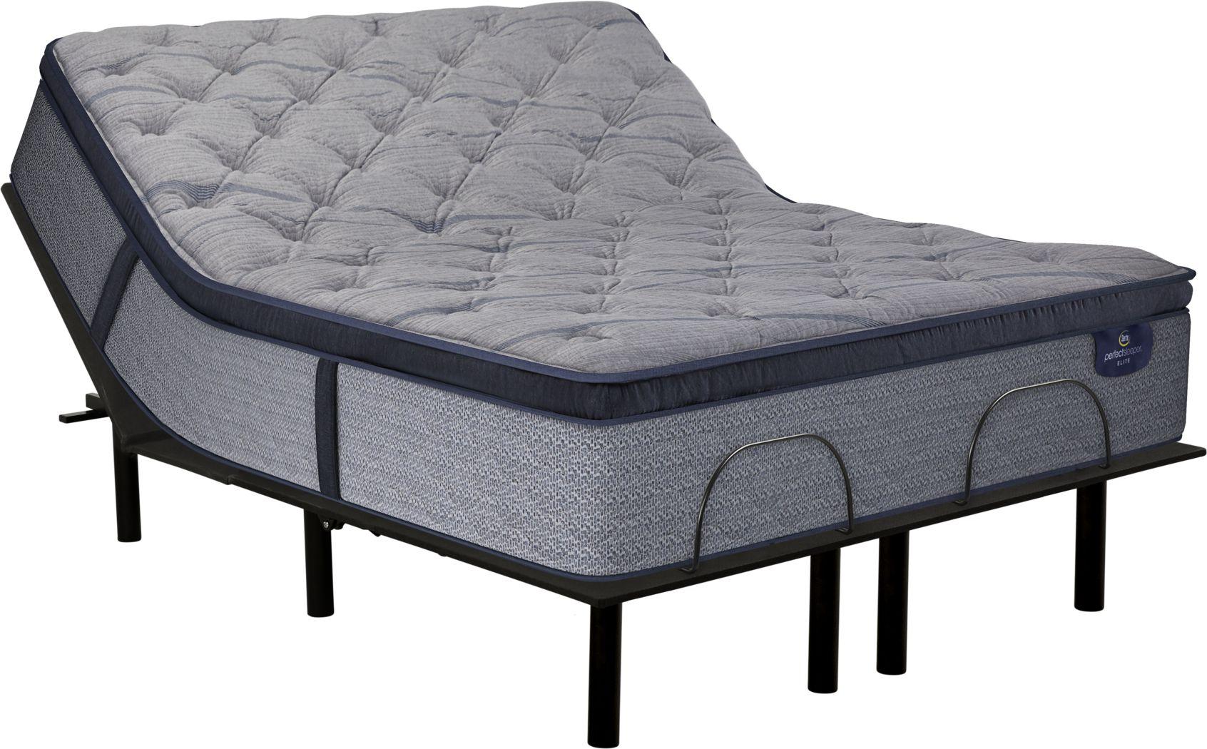 Serta Perfect Sleeper Pine Meadow King Mattress with RTG Sleep 2000 Adjustable Base
