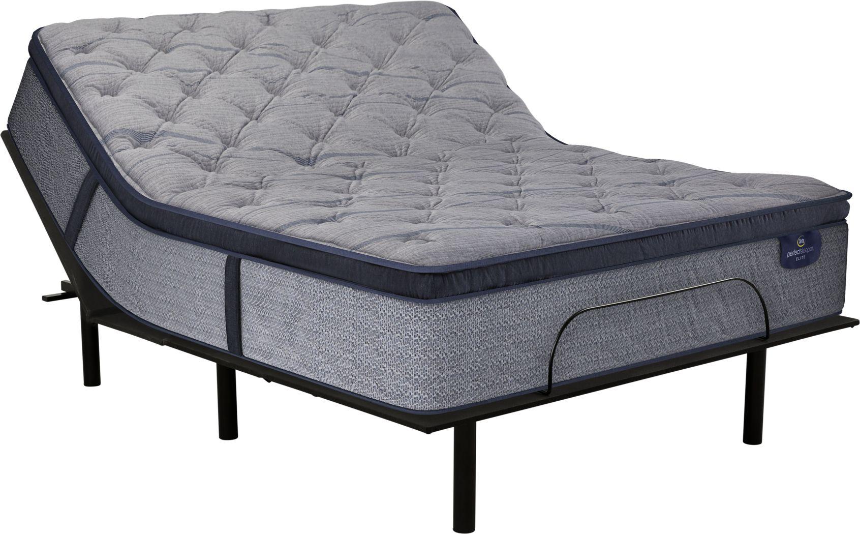 Serta Perfect Sleeper Pine Meadow Queen Mattress with RTG Sleep 2000 Adjustable Base