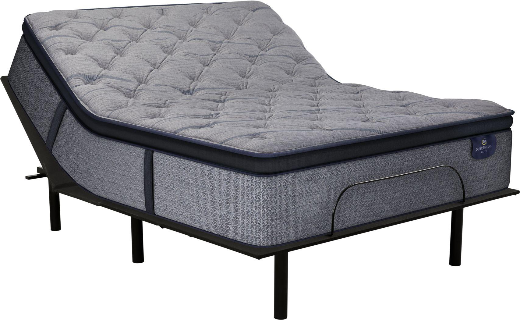 Serta Perfect Sleeper Vernon Hills Queen Mattress with RTG Sleep 2000 Adjustable Base