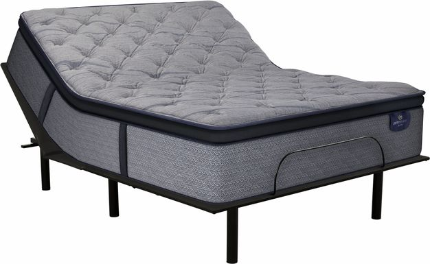 Serta Perfect Sleeper Vernon Hills Queen Mattress with Reverie O200 Adjustable Base