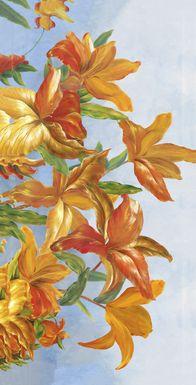 Shades of Orange 7' Long Canvas Artwork