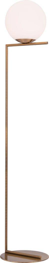 Shadow Cliff Brass Floor Lamp